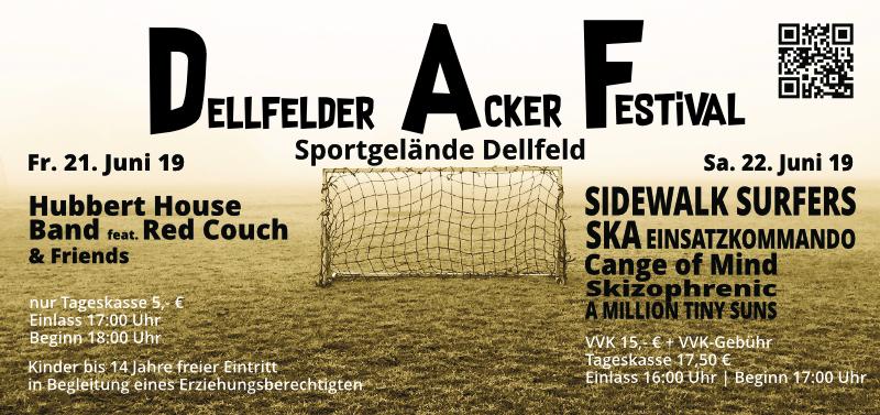 Dellfelder Acker Festival - 2019 - Flyer